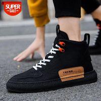 Winter men's shoes Korean fashion trend board student casual high-top Martin boots men #Lp5N