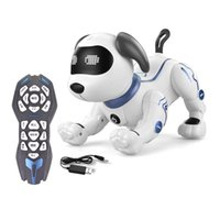 ذكي برمجة الكلب k16 الرقص الكهربائية الوقوف على اليدين pet روبوت لعبة الأطفال giftqwti