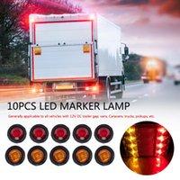 Lanternes portables 10pcs 12V Longue durée de vie longue ronde 3 LED Lumière Etanche Etanche Emploining Truck Remorque Lampe de déclenchement de la rampe avec thermale