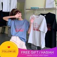 and loose Girls' thin dress T-shirt East Gate hot net red fashion clothes short sleeve print loose bottomed shirt