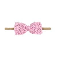 Ins knitting wool hair bows baby girl headbands baby headband girls designer headband nylon designer headbands kids hair bands A10424