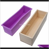 Cake Tools Bakeware Kitchen, Dining Bar Home & Gardenstocked Rectangular Wooden With Sile Liner And Loaf Swirl Mold Tool Diy Soap Candle 0 Do