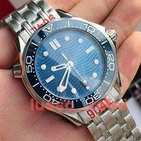 Высокое качество GD Мужская мужская керамическая бешель 42 мм часы часов оригинальные автоматические механические движения стальные резиновые браслеты Джеймс Бонд 007 300M Montre de luxe наручные часы