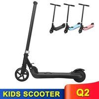 어린이를위한 접이식 전기 스쿠터 5 인치 솔리드 타이어 130W / 24V 4KG 2 바퀴 E-Scooter 6km 최대 40kg 2Ah 리튬 배터리