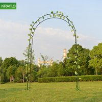 Kraflo Wrought iron garden arches Courtyard plant climbing Clematis grape rose vine support frame
