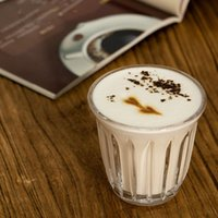 Canecas listras verticais copo de vidro copo resistente ao calor caneca de café Home Café escritório Latte Gelo Americano de Leite de Leite Presentes