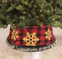 Christmas tree bottom decoration tree skirt lattice golden snowflake apron, Xmas decorations