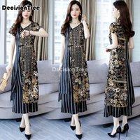 Adodi Vietnam Vestito per le donne Abbigliamento tradizionale AO Dai Oriental Cheongsam Styet Styet Style Costume set floreale