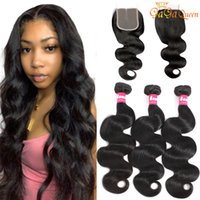 Mink Brazilian Body Wave Hair bundles With Closure 4X4 Lace ...