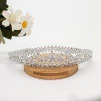 Hair Clips & Barrettes Delicate Indie Wedding Bride Tiara Zircon Crown