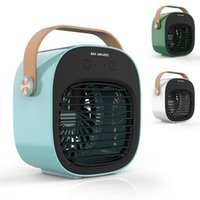 Electric Fans Mini Portable Fan Air Conditioner USB Rechargeable Humidification Refrigeration Cooler Home Desktop