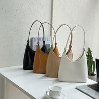 ins Satchel handbag new Korean fashion trend single strap shoulder bags PU texture hand purse niche bucket bag