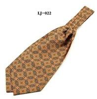 Bufandas Linbaiway Hombres Boda Cravat Ascot Auto Corbata Bufanda Imprimir Cuello Caballero Poliéster Logotipo Personalizado
