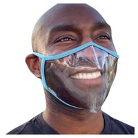 Fashion Clear Mask Masque Transparent Deaf Mute Face Mask for Talk Chat Plastic Mouth Shield Decoration