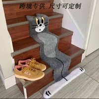 Том кот ковер специальная фасонная толстая имитация кашемировой анимации творческий дизайн лестницы мат