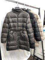 Premium Astrid Senhoras Parka Casaco com desconto Colarinho com capuz Longo estilo com fecho com zíper Frio e À prova de vento para baixo jaqueta feminina