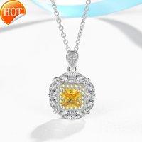 DZ052 Nepal Noble colar de pingente feminino cadeia de clavícula japonês e coreano estudantes simples acessórios princesa quadrado diamante colar
