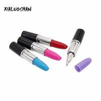 Ballpoint Pens 4 Pcs lot Novel Lipstick Shape Pen For Writing School Supplies Office Accessories Stationary Kids Student Gift