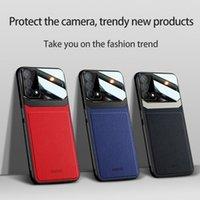 Organic PC Powrót Protector Przypadki telefonu dla OPPO K9 A95 A74 A94 IQOO Z3 Y72 A93 Znajdź X3 Reno 5 Pro 4SE 4 A12 A53 Skórzana pokrywa ziarna