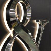 LED-Kanal-Buchstabe des polierten Metalloberfläches 3D-Zeichenbuchstaben Reverse-lit-Shop-Shop-Nagel-Salon Customized Storefront