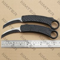 Automatic Karambit D A out the front Curved blade Knife Dual action Auto 440C Two-tone Finish EDC Tactical gear Tools Knives with box Cncostco