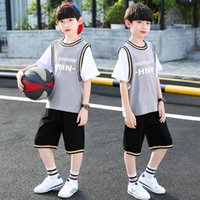kids Clothing Sets Baby Boy Girl Basketball Suit Nursery Ball Clothes Vest + Shorts Pants Set Children Tracksuits 2pcs