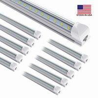 25pcs 8ft 150w, 미국 + 8Feet LED 튜브 라이트 150 Waat 통합 T8 LED 조명 튜브 8 피트 더블 사이드 15000 루멘 AC 110-240V