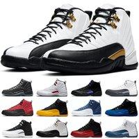 كرة السلة أحذية الهواء الأردن 12 الرجعية الملوك فائدة تويست عكس الانفلونزا لعبة جامعة الذهب الظلام كونكورد رمادي هايبر الملكي Playoffs رجل المدربين الرياضة أحذية رياضية