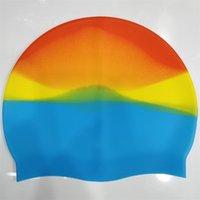 Gorra de natación Venta al por mayor Multicolor Unisex Silicona para el cabello largo Gorro de buceo a prueba de agua Hat de natación profesional Mantenga el pelo seco 5Color G3367ic