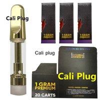 Cali Plug Gold Carts Hologramm VAPE Cartridge Verpackung Glas Zerstäuber 0.8ml 1ml Keramikkartuschen Holographische Einzelhandel Bag Box leer 510 Einweg-CaliPlug