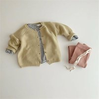 Jackets Yg 2021 Autumn 1-3 Year Old Baby Sweater Girl's T-shirt Boy's Casual Cardigan