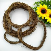 Natural Rattan Garland DIY Crafts Decor Wedding Decoration Wreath For Home Door Grand Tree Gift Party Decorative Flowers & Wreaths