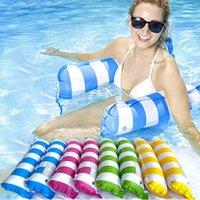 풍선 부동 물 해먹 라운지 침대 의자 수영장 풍선 에어 매트리스 여름 수레 장난감을위한 해변을위한 잠자는 침대 23 스타일