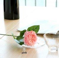 Charmante Soie Artificielle Fleurs Décoratives Tissu Roses Roses Petonies Fleur Pour Mariage Home Decor de l'hôtel RRD7078