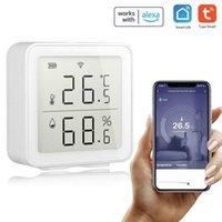 Akıllı Ev Kontrolü Tuya WiFi Kablosuz Sıcaklık Sensörü Alexa Bank Ofisi için Otomasyon Sahne Sistemi