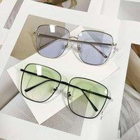 Gm hua chenyu mismo gafas de sol mujeres viento viento gran marco simple cuadrado moda verde gafas de sol hombres