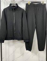 21SS France's latest luxury full-body letter jacquard slim sports suit Paris famous men's designer high-quality men women's autumn and winter fashion suits