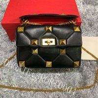 Sac à bandoulière de luxe de luxe Chaîne en cuir Napa Sac de mode de la mode haute qualité Haute Qualité Rivet doré Flip sur les sacs à main croisés