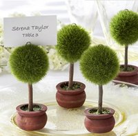 Wedding Favors Gift Green Potted Plants Place Card Holder For Green Theme Topiary Tree Place wedding decoration DH203