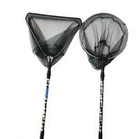 Main de pêche Net rétractable d'alliage d'aluminium d'alliage d'alliage d'aluminium pliable Brail Triangle portable et réseau rond X107G Accessoires
