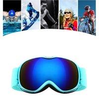 어린이 겨울 방풍 스키 안경 소년 소녀 UV400 안티 - 안개 스키 고글 어린이 구형 광범위한 비전 스노우 보드 아이웨어