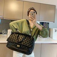 Cross Body Lattice Large Tote Bag 2021 High Quality PU Leather Women's Designer Handbag Capacity Shoulder Messenger Travel