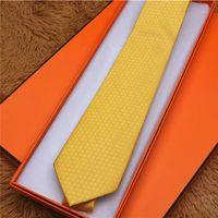Laços de luxo dos homens 100% de seda Jacquard Yarn-tingido amarrado marca padrão caixa de presente embalagem