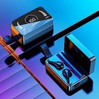 H3 fones de ouvido fones de ouvido bluetooth fone de ouvido fone de ouvido toque botão com espelho led display na caixa de carregamento um presente agradável
