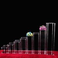 Festa decoração coluna acrílica vaso vaso plinth mesa mesa floral festão estande para o cenário de aniversário de casamento