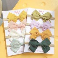 4Pcs Set Baby Bowknot Headband For Girl Nylon Cute Head Band Turban Newborn Hairbands Kids Hair Accessories