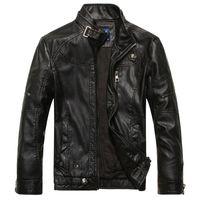 2021 piel de otoño diseño de cuero cueros de moda chaqueta hombres más tamaño invierno cálido llorar el abrigo M-3XL