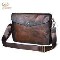 "Trend Top Quality Leather Vintage Male Design Organizer Wallet Clutch Handbag 8"" Tablet Coffee Cross-body Messenger Bag Men 8873 Wallets1"