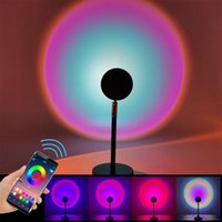 Night Lights Sunset Light Projection APP Dual Remote Control Color Changing Rainbow Music