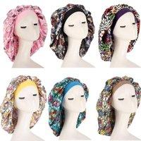 Beanie Skull Caps Women Large Satin Bonnet Silk Sleep Night Cap Head Cover Headwrap Hat Hair Wrap Accessories Print
